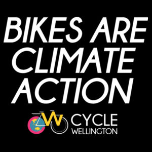 Bikes are climate action - Womens Bevel V-Neck Tee Design
