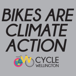 Bikes are climate action - Womens Wafer T shirt  Design