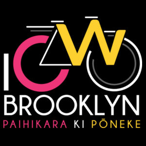 I Cycle Brooklyn - Womens Bevel V-Neck Tee Design